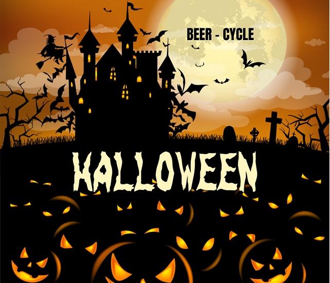 Halloween Bierfiets